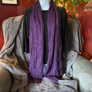 Purple Maurices Sequin Scarf